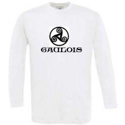 tee-shirt manches longues. triskel celtique gaulois