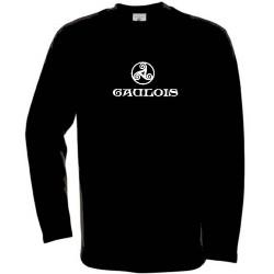 t-shirt noir manches longues triskel celtique avec mention gaulois.
