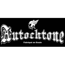 """détails du Sweat capuche Autochtone Gaulois mention """"fabriqué en gaule"""". petit modèle."""