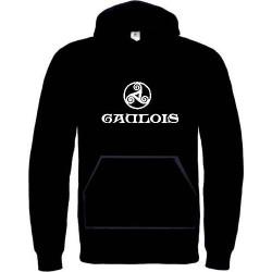 Sweat capuche Autochtone Gaulois symbole triskel celtique. Grandes tailles