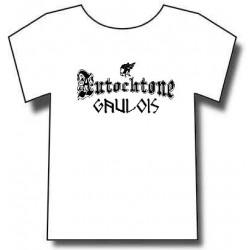 t-shirt autochtone gaulois. identitaire français gaulois. mention gaulois