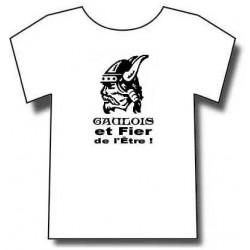 T-shirt tête de gaulois barbu. mention gaulois et fier de l'être !