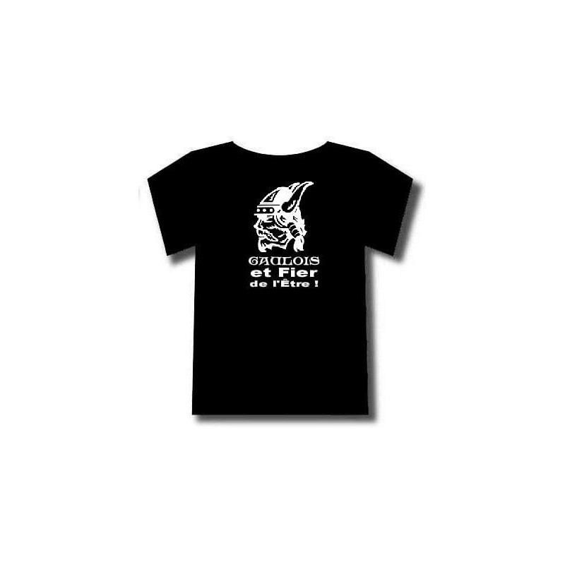 T-shirt tête de gaulois barbu. mention gaulois identitaire et fier de l'être !