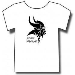 T-shirt Gaulois avec devise Droit Devant !