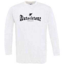 t-shirt manches longues Autochtone fabrique en gaule petit modele Blanc
