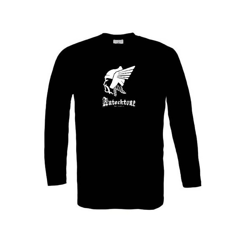 t-shirt manches longues Noir de la marque Autochtone mention fabriqué en gaule Grand Modèle